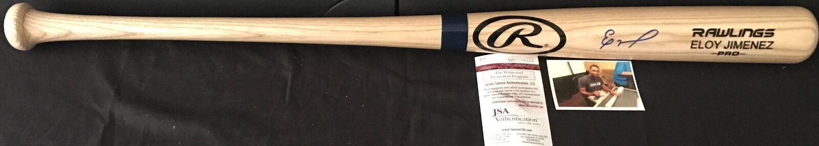 Eloy Jimenez Chicago White Sox Autographed Signed Engraved Bat JSA COA Blonde B