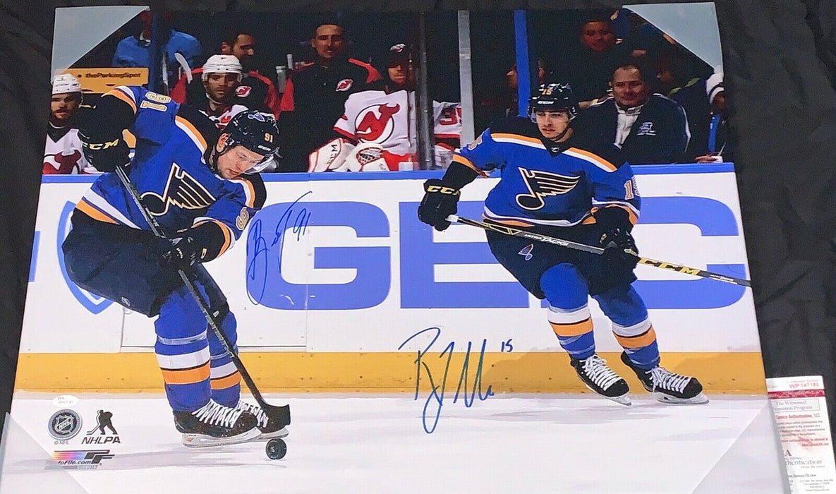 Vladimir Tarasenko Robby Fabbri Blues Signed 24x30 Canvas JSA WITNESS COA