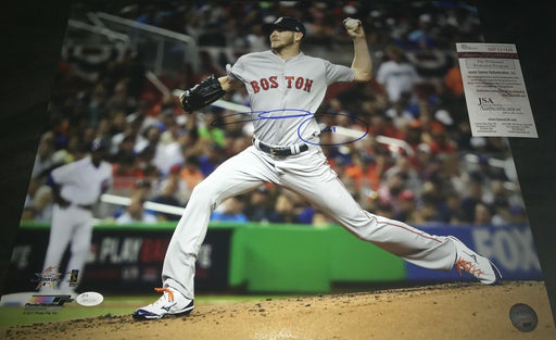 Chris Sale Red Sox Autographed Signed 16x20 Photo JSA WITNESS COA 2017 All Star