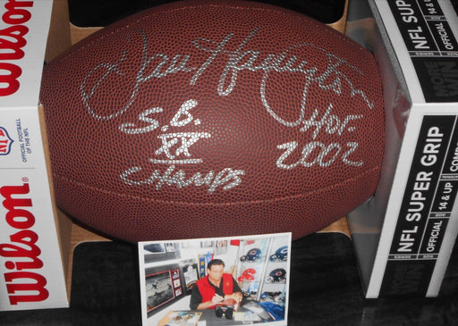 Dan Hampton Chicago Bears Autographed Signed Football PIC SBXX A1