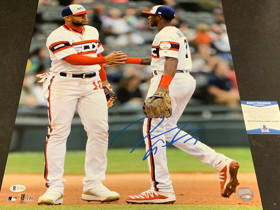 Tim Anderson White Sox Signed 16x20 Beckett WITNESS COA Sunday Uniform Moncada