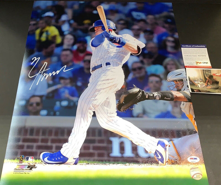 Nico Hoerner Chicago Cubs Signed 16x20 Photo PSA WITNESS COA 1st Wrigley HR
