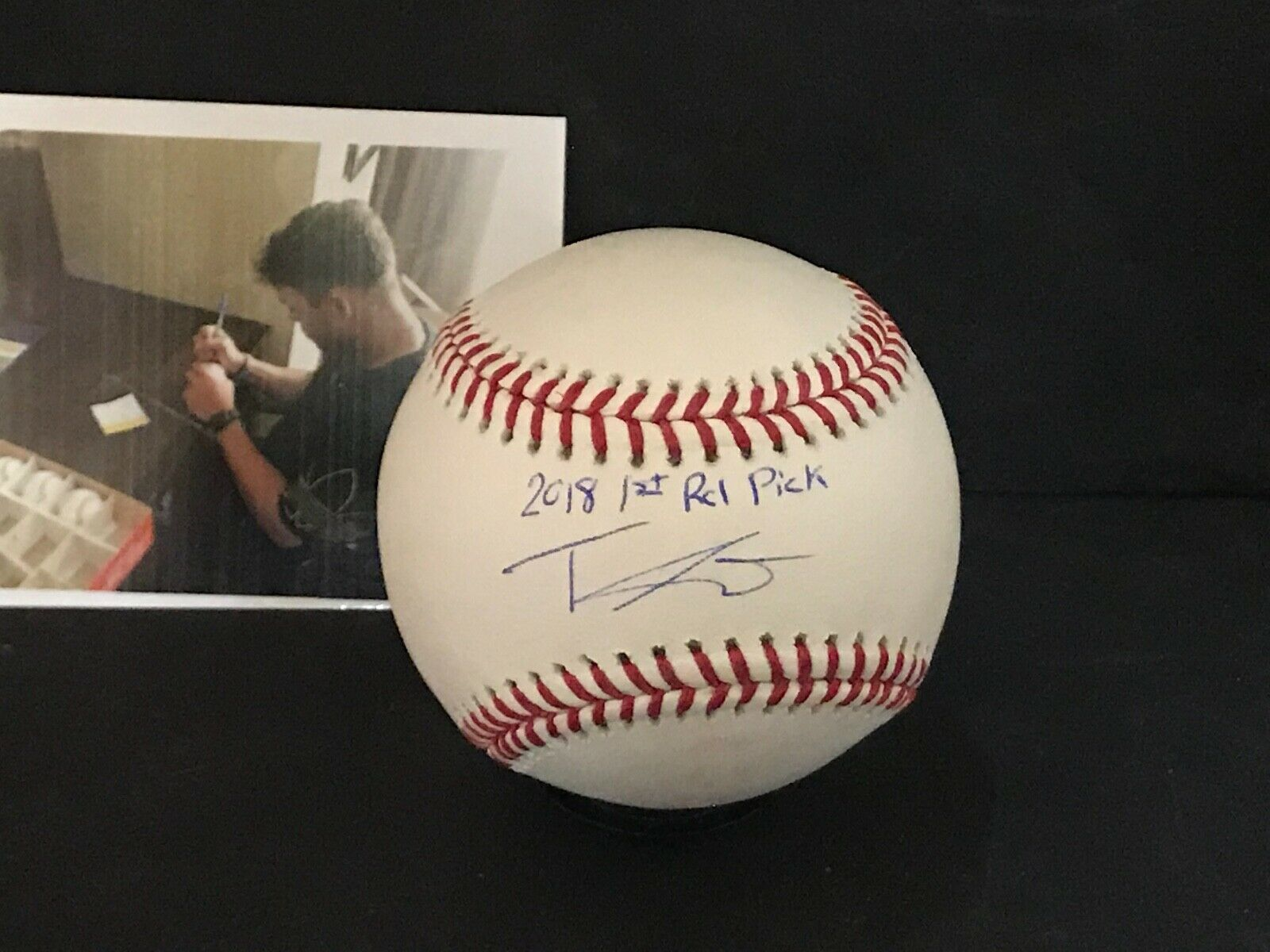Travis Swaggerty Pirates Autographed Signed MLB Baseball 2018 1st Rd Pick 1