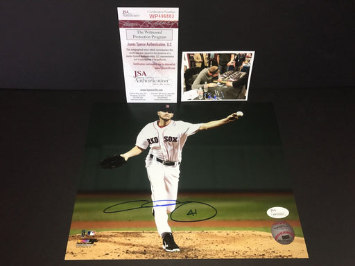 Chris Sale Boston Red Sox Autographed Signed 8x10 Photo JSA WITNESS COA