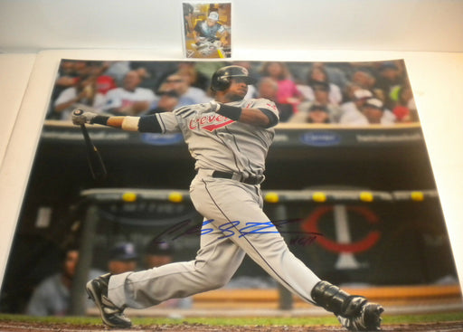 Carlos Santana Cleveland Indians Signed 16x20 W/Picture