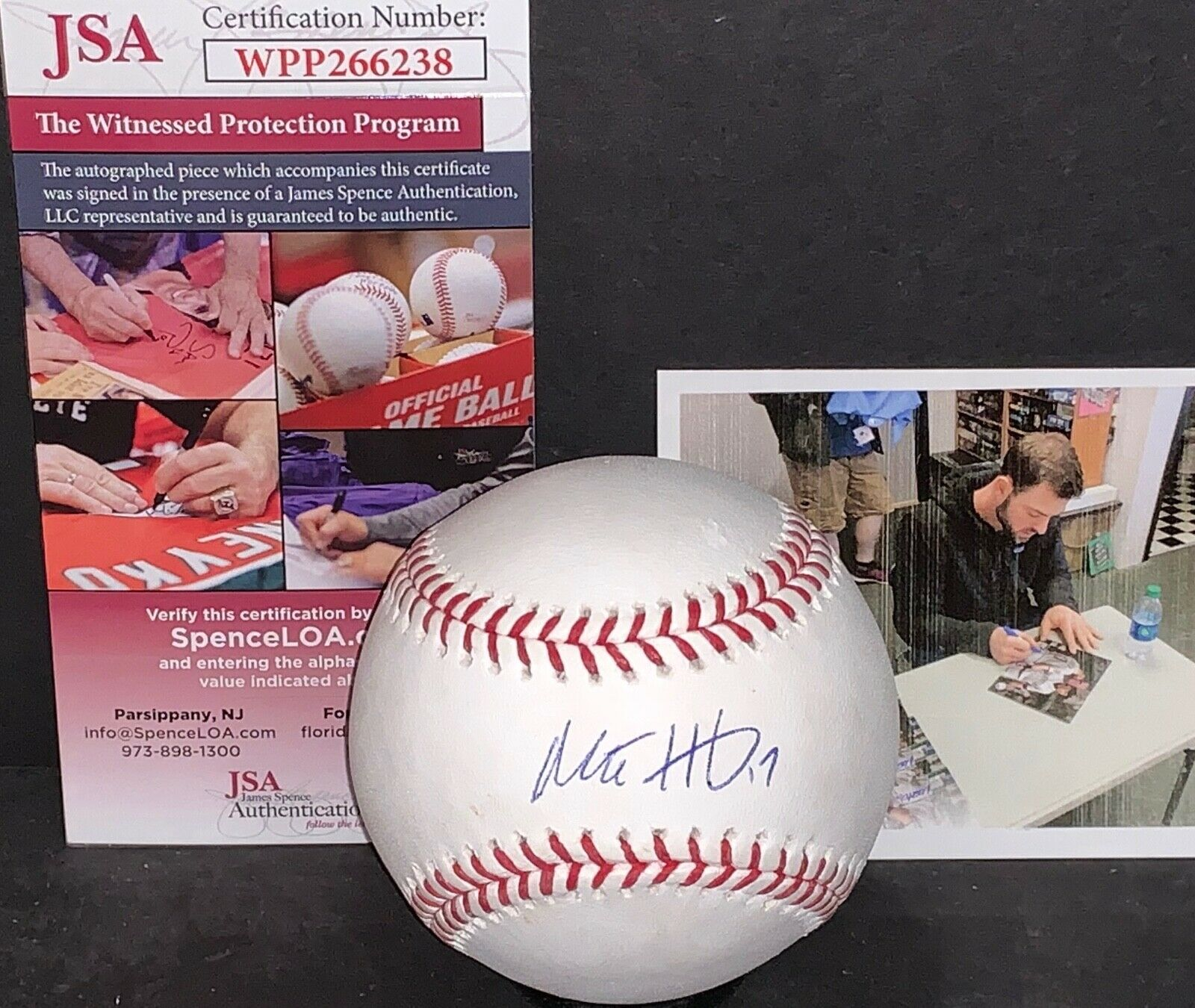 Mitch Haniger Seattle Mariners Signed Major League Baseball JSA WITNESS COA 1