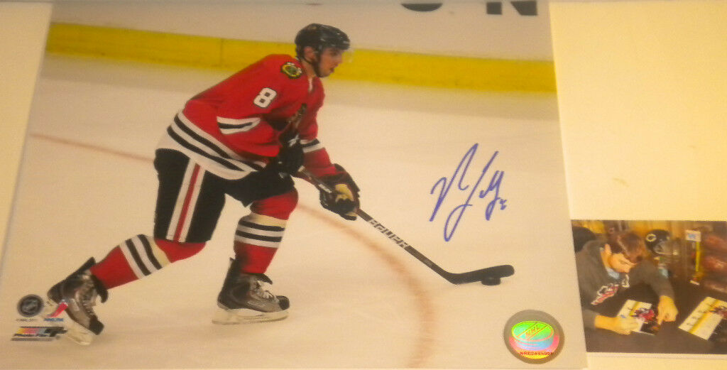 Nick Leddy Chicago Blackhawks Signed 8x10 E