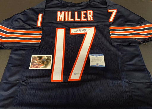 Anthony Miller #17 Signed Autographed Blue Jersey Beckett Witnessed COA 1