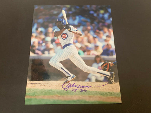 Andre Dawson Chicago Cubs Autographed Signed 11x14 HOF 2010