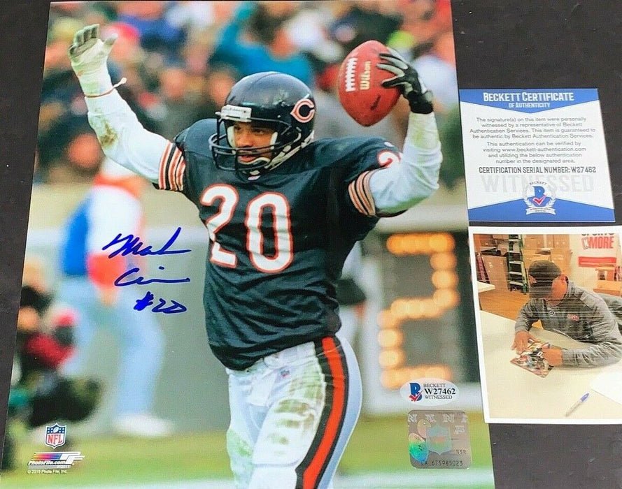 Mark Carrier Chicago Bears Autographed Signed 8x10 Photo Beckett WITNESS COA 2