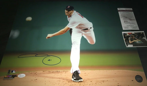 Chris Sale Boston Red Sox Autographed Signed 16x20 Photo JSA WITNESS COA 41