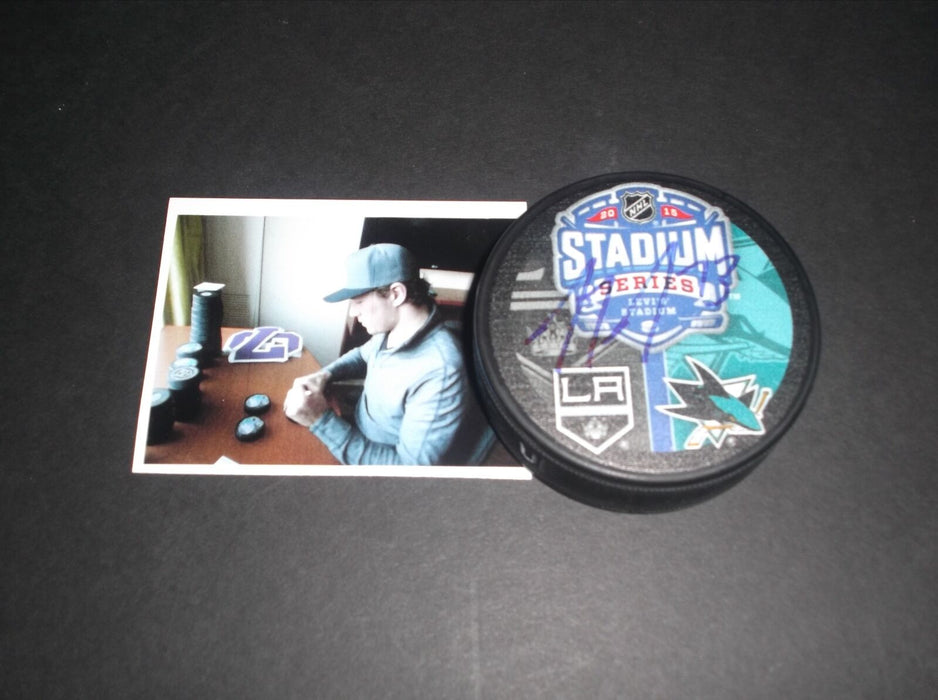 Tyler Toffoli LA Kings Autographed Signed 2015 Stadium Series Puck