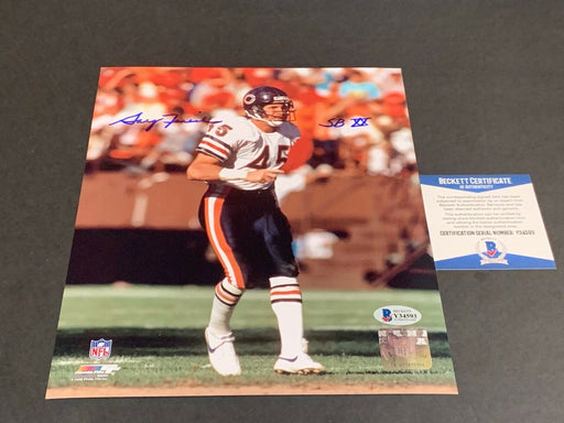 Gary Fencik Chicago Bears Autographed Signed 8x10 SBXX Beckett COA .