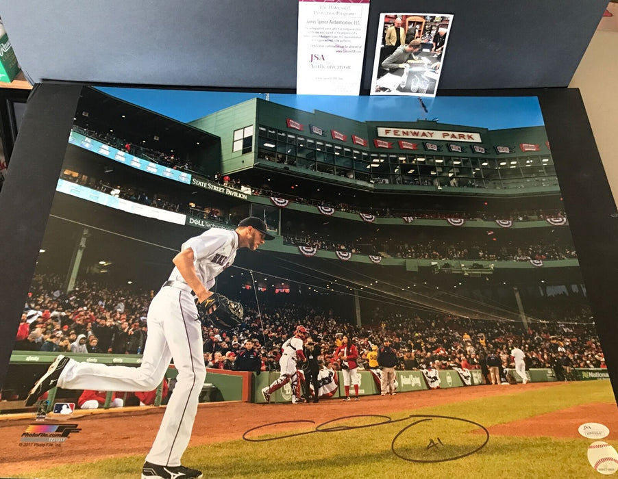 Chris Sale Boston Red Sox Autographed Signed 16x20 Photo JSA WITNESS COA 3