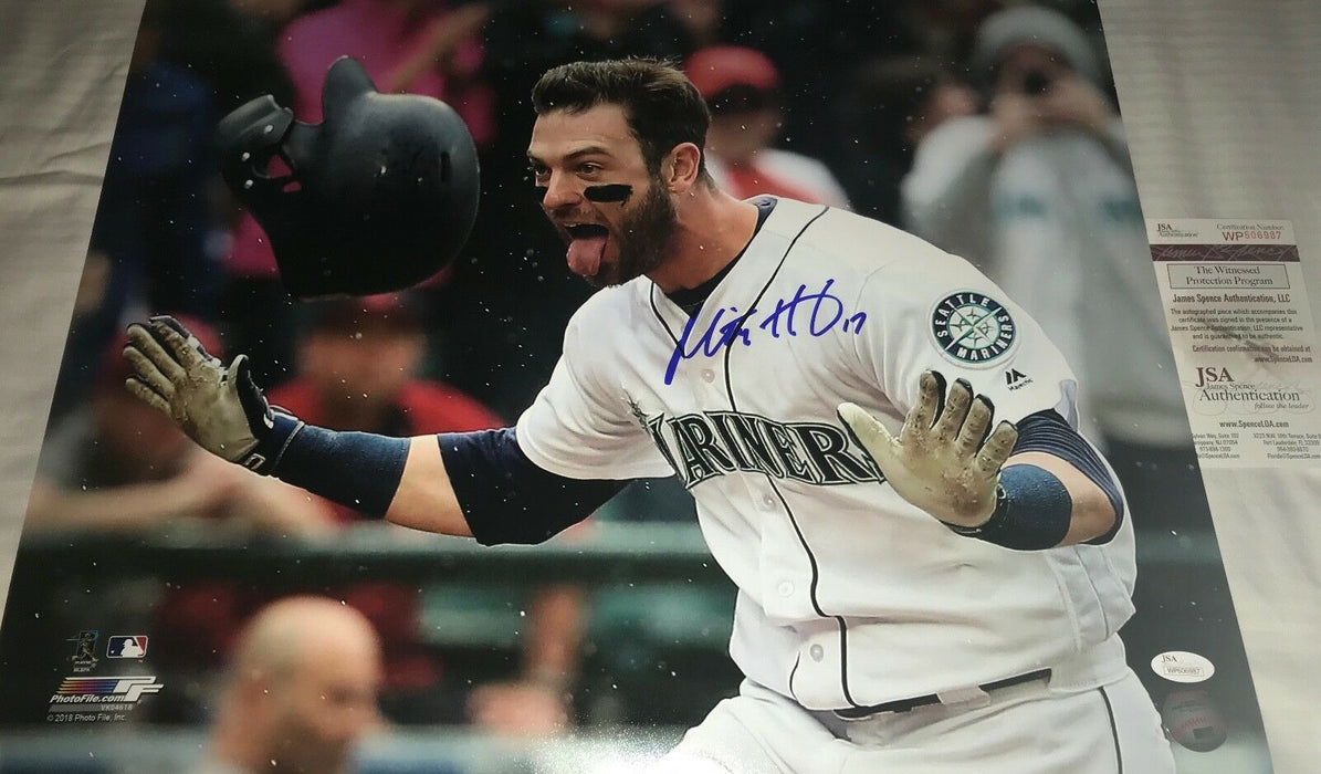 Mitch Haniger Seattle Mariners Autographed Signed 16x20 Photo JSA WITNESS COA A