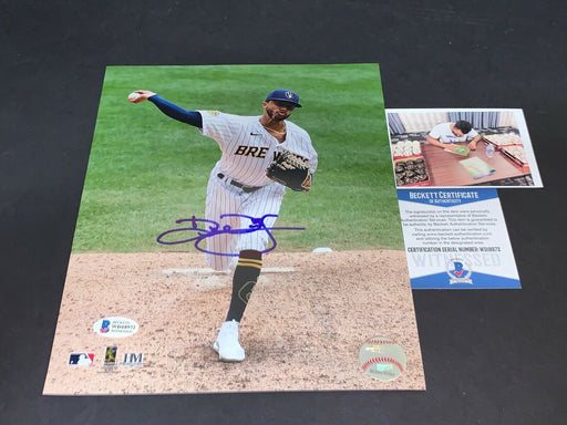 Devin Williams Brewers Autographed Signed 8x10 Photo Beckett WITNESS COA a