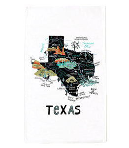 State of Texas Tea Towel