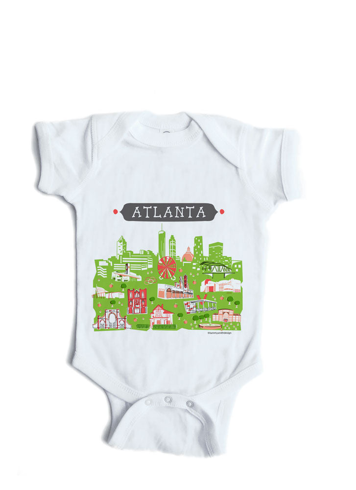 ae5d0164a5c6 Atlanta GA Baby Onesie-Personalized Baby Gift – Tammy Smith Design