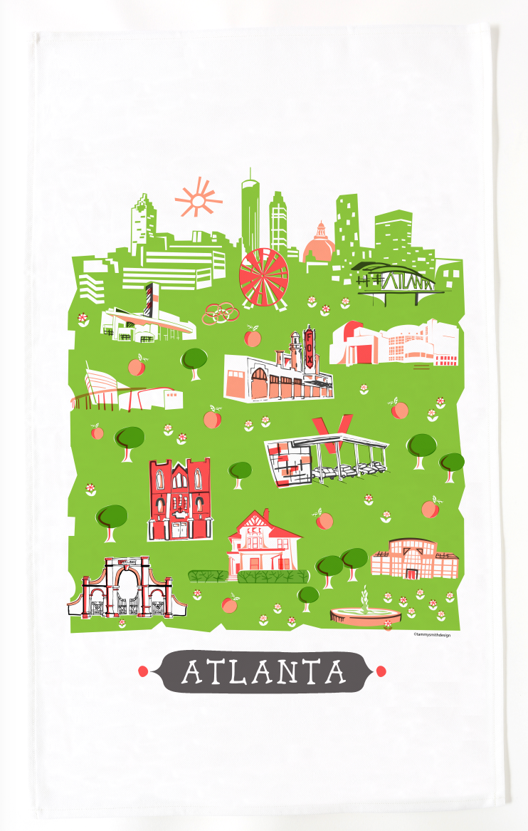Atlanta Tea Towel