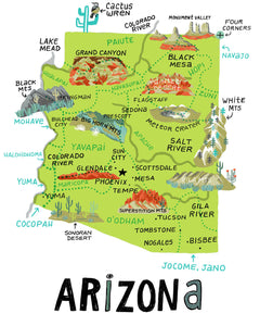 State of Arizona Wall Art