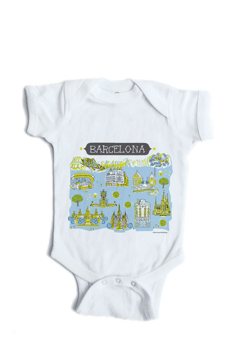 Barcelona Baby Onesie-Personalized Baby Gift
