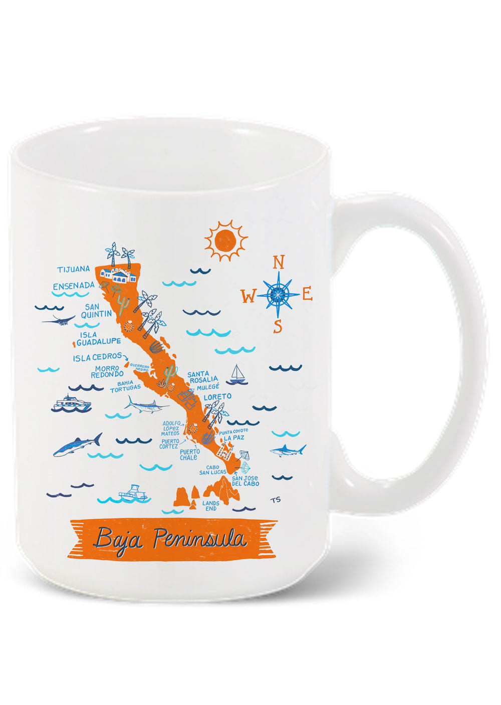 Baja Peninsula Mug-Custom City Mug