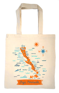 Baja Peninsula Tote Bag-Wedding Welcome Tote