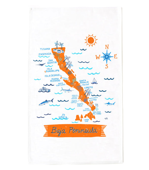 Baja Peninsula Tea Towel