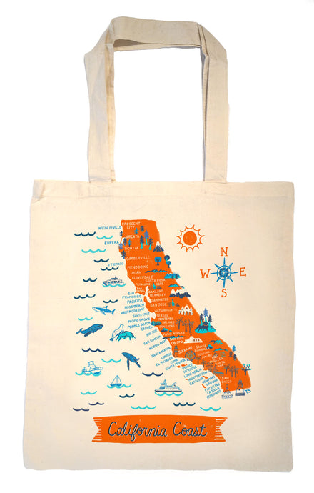 California Coast Tote Bag-Wedding Welcome Tote