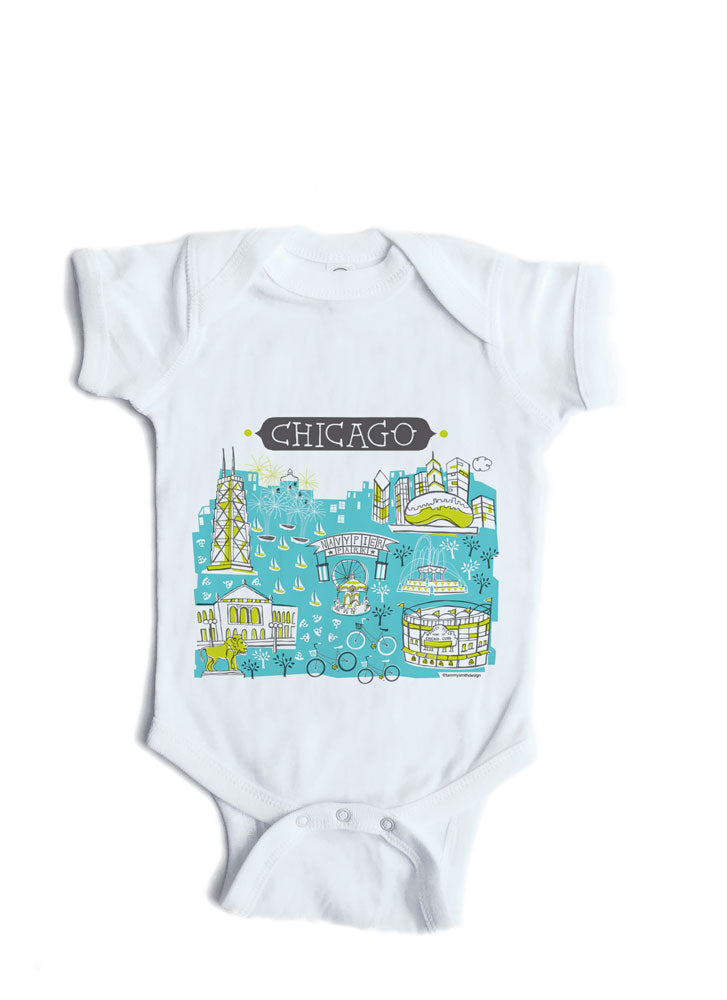 Chicago IL Baby Onesie-Personalized Baby Gift