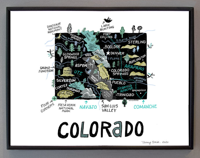 State of Colorado Wall Art