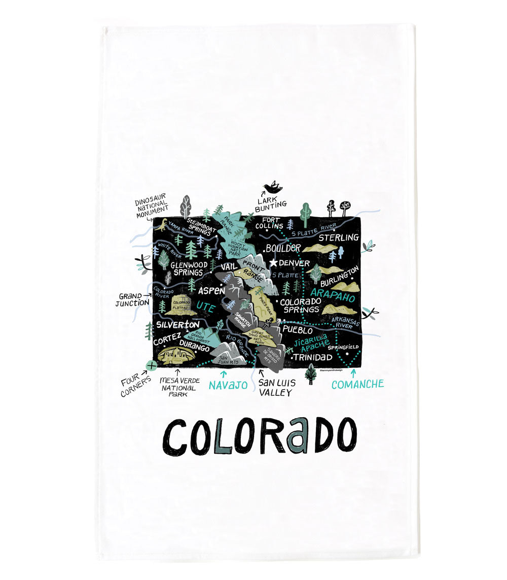 State of Colorado Tea Towel
