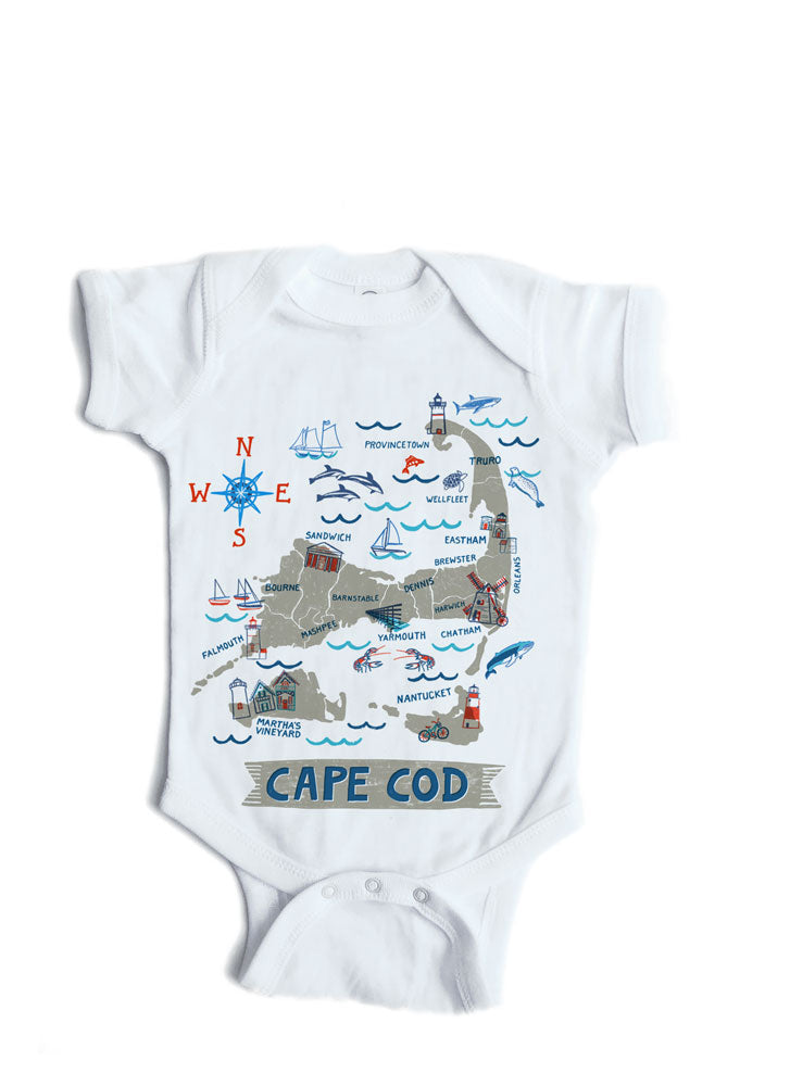 Cape Cod Baby Onesie-Personalized Baby Gift