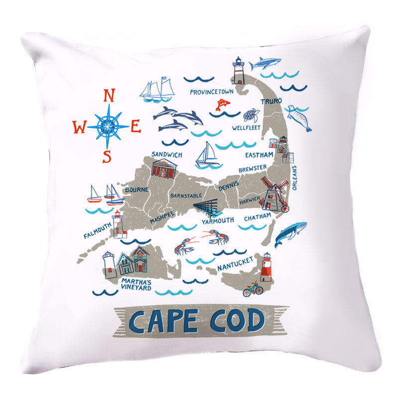 Cape Cod Pillow Cover-16 x 16