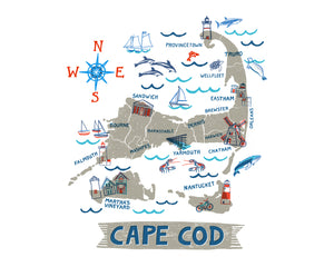 Cape Cod Wall Art-Custom City Print