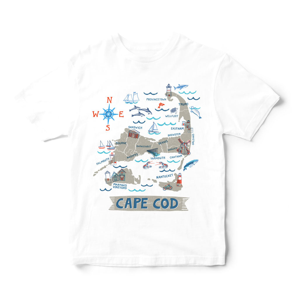 Cape Cod T Shirt-Eco Friendly Print DTG