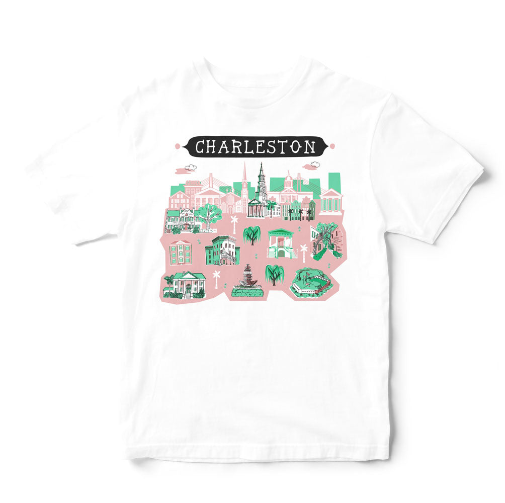 Charleston T Shirt-Eco Friendly Print DTG