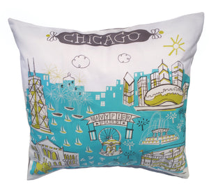 Chicago Pillow Cover-16 x 16