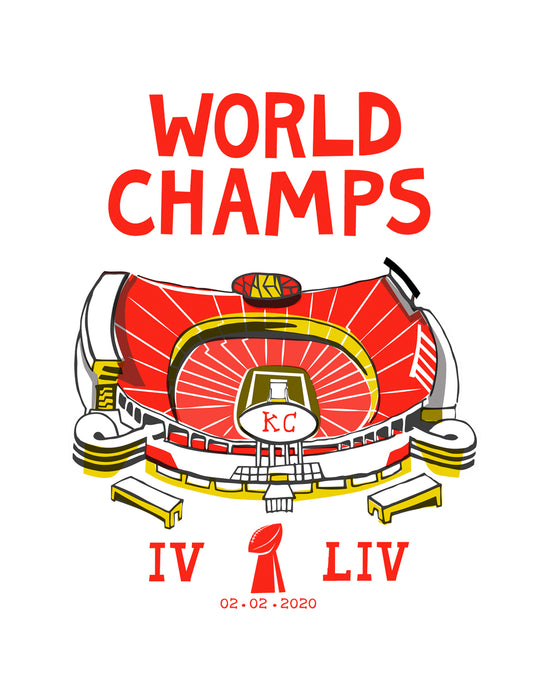 Chiefs World Champs Art Print