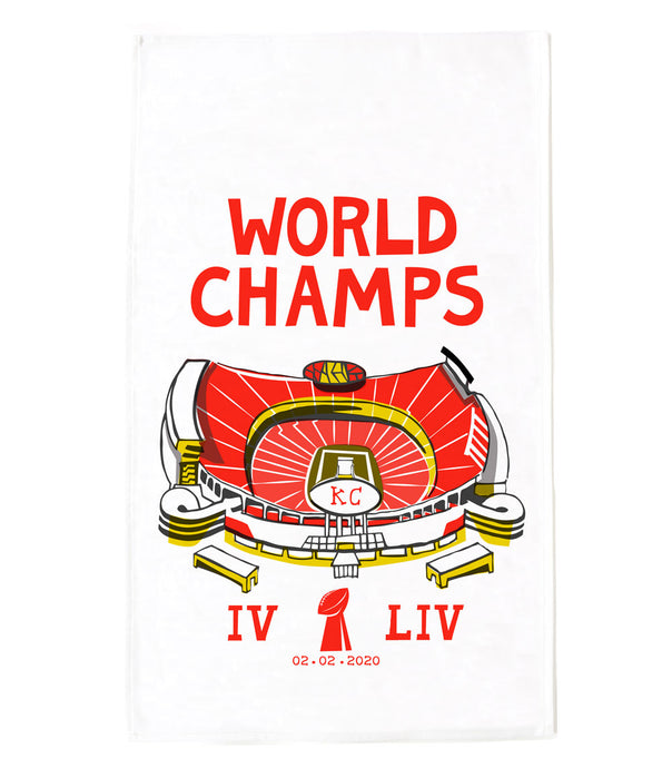 Kansas City Chiefs World Champs Tea Towel