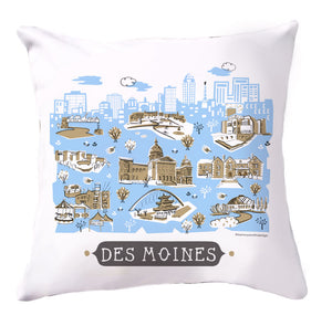 Des Moines Pillow Cover-16x16