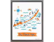 Florida Keys Wall Art-Custom City Print