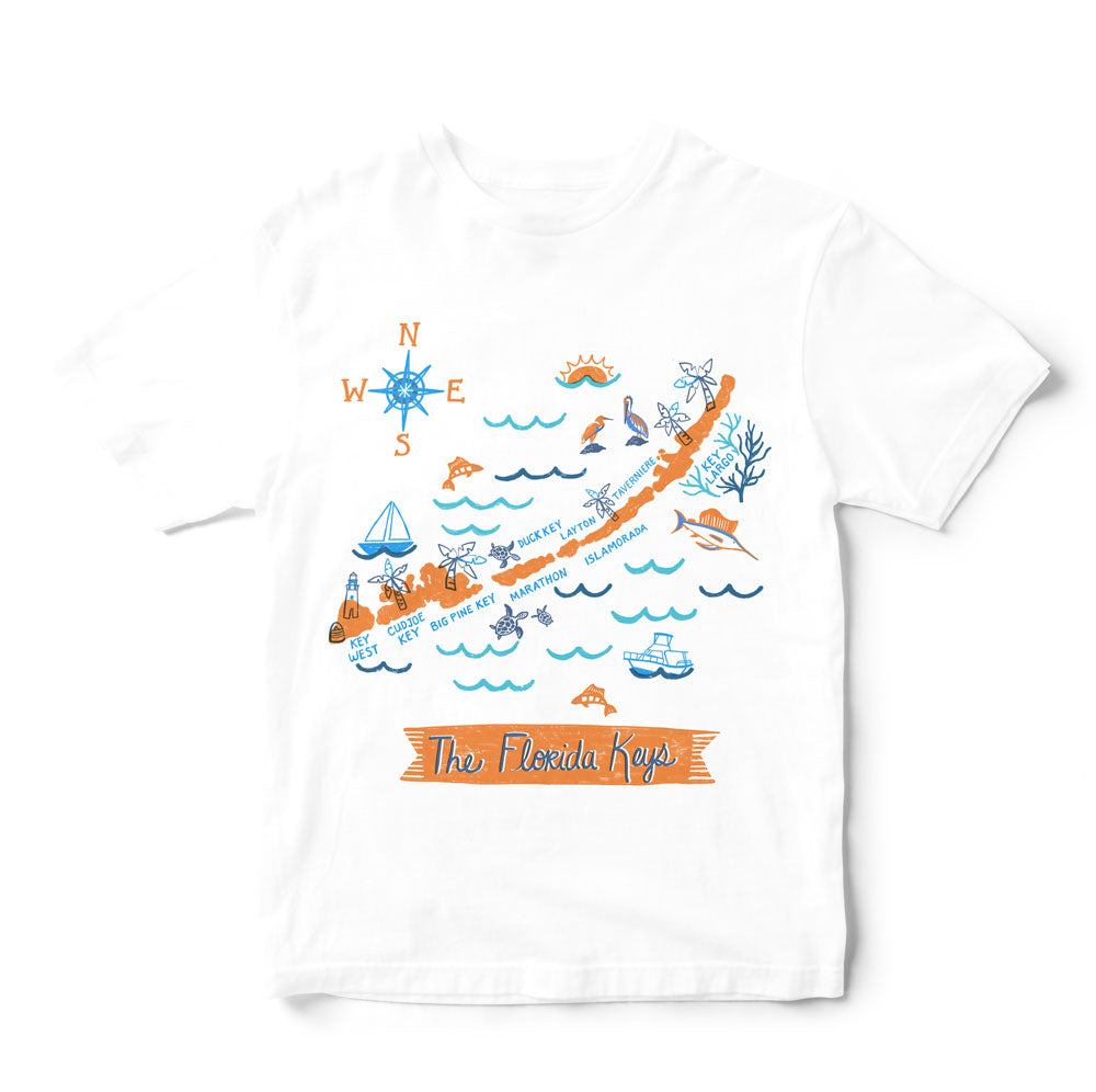 Florida Keys T Shirt-Eco Friendly Print DTG