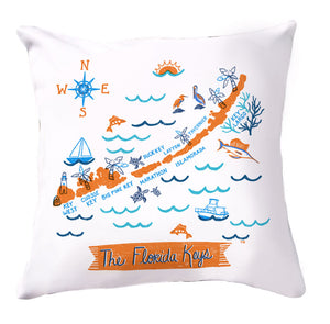 Florida Keys Pillow Cover-16 x 16