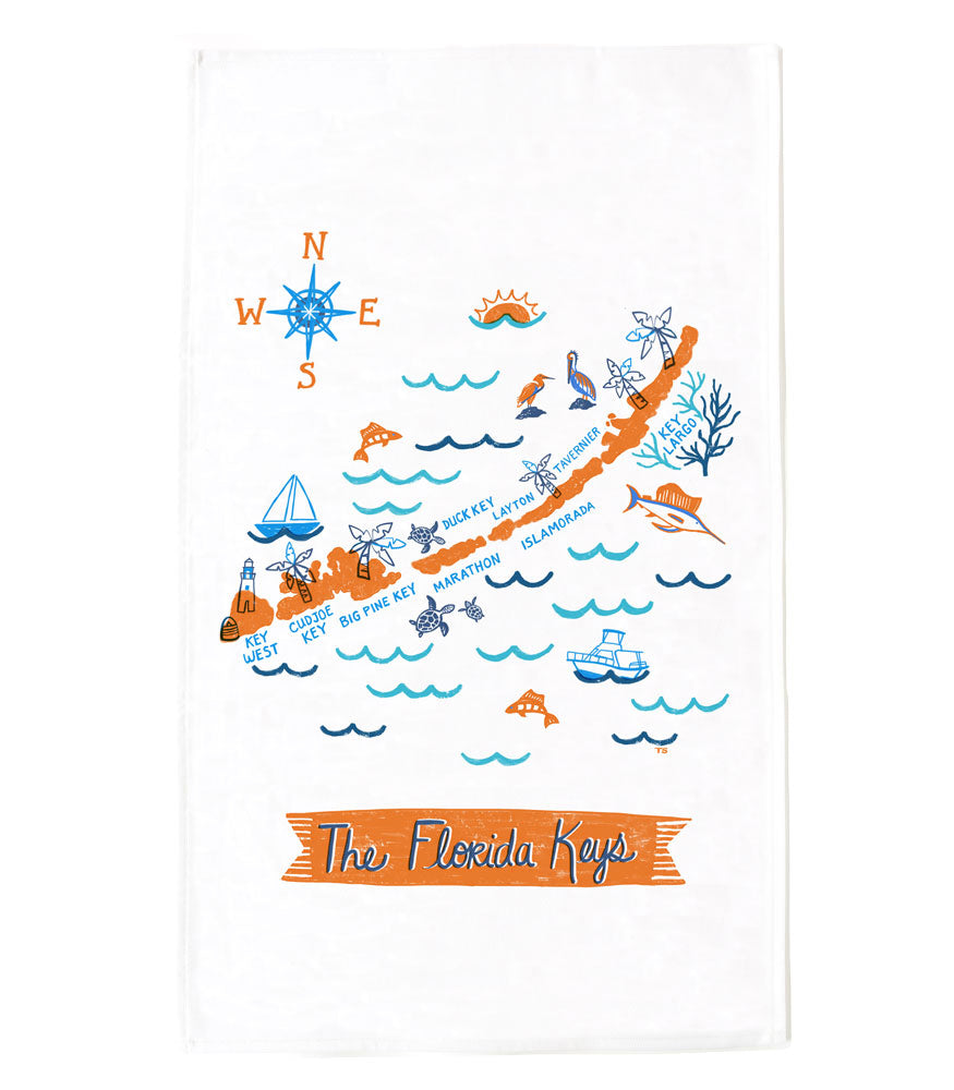Florida Keys Tea Towel