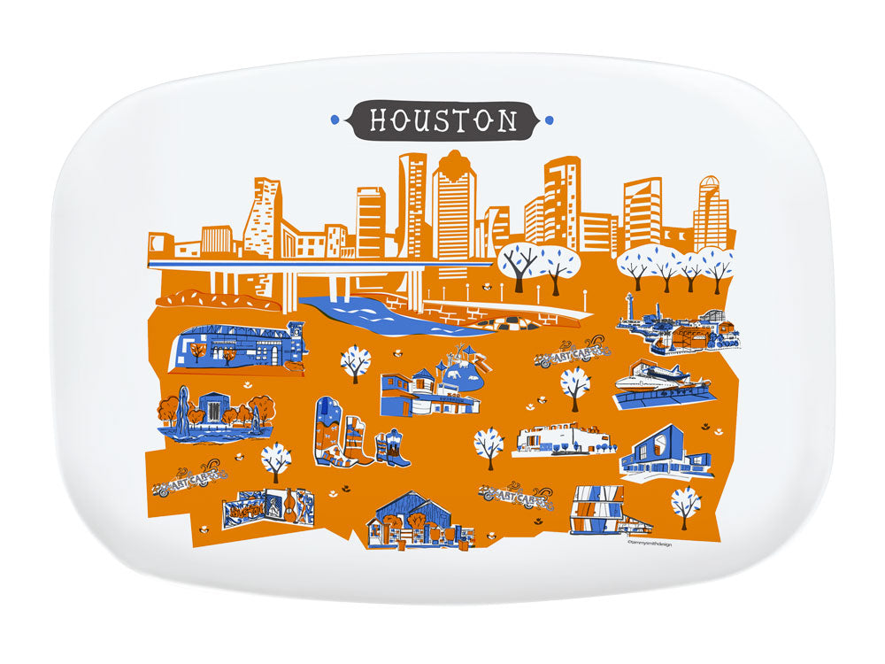 Houston Platter-Custom City Platter