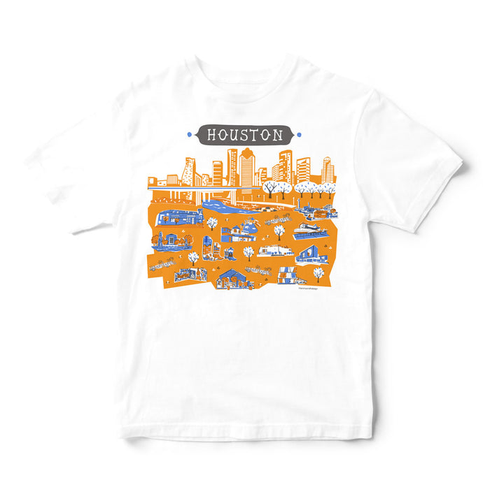 Houston T Shirt-Eco Friendly Print DTG