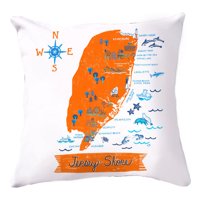 Jersey Shore Pillow Cover-16 x 16
