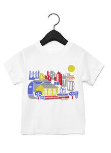 Kansas City MO skyline Kid Tee-Eco Friendly DTG Printed