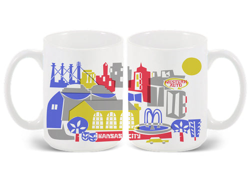 Kansas City MO skyline Mug-Custom City Mug